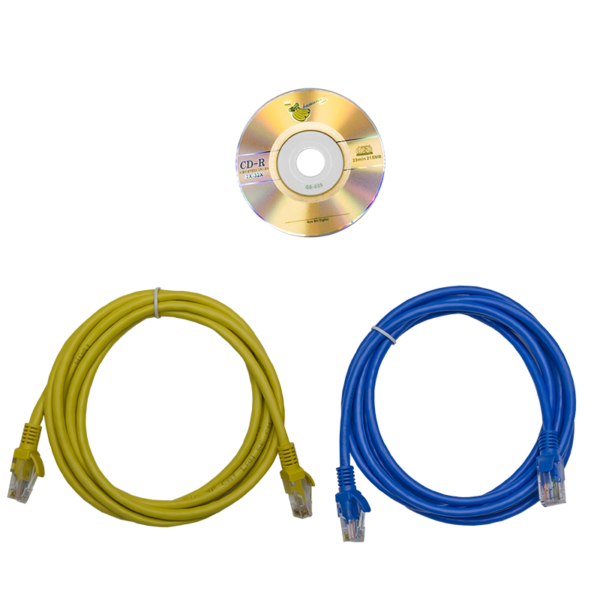 Рис.5 - Комплект поставки TP-BASIC-20A04B-32L3 - блок розеток с функцией измерения серия BASIC, 20xC13, 4xC19, вход IEC60309 3x32A (3P+N+PE)