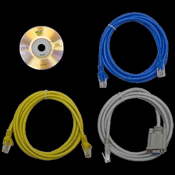 Рис.5 - Комплект поставки TP-PRO-D-18A06B-32L1 - блок розеток с функциями измерения и управления каждой розеткой серия PRO, 18xC13, 6xC19, вход IEC60309 32A (2P+PE)