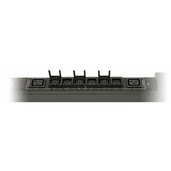 Рис.6 - TP-STD-D-18A06B-32L1 - блок розеток с функциями измерения и управления каждой розеткой серия STD, 18xC13, 6xC19, вход IEC60309 32A (2P+PE)