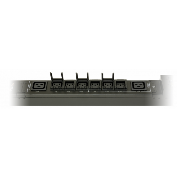 Рис.7 - TP-STD-D-18A06B-16L3 - блок розеток с функциями измерения и управления каждой розеткой серия STD, 18xC13, 6xC19, вход IEC60309 3x16A (3P+N+PE)