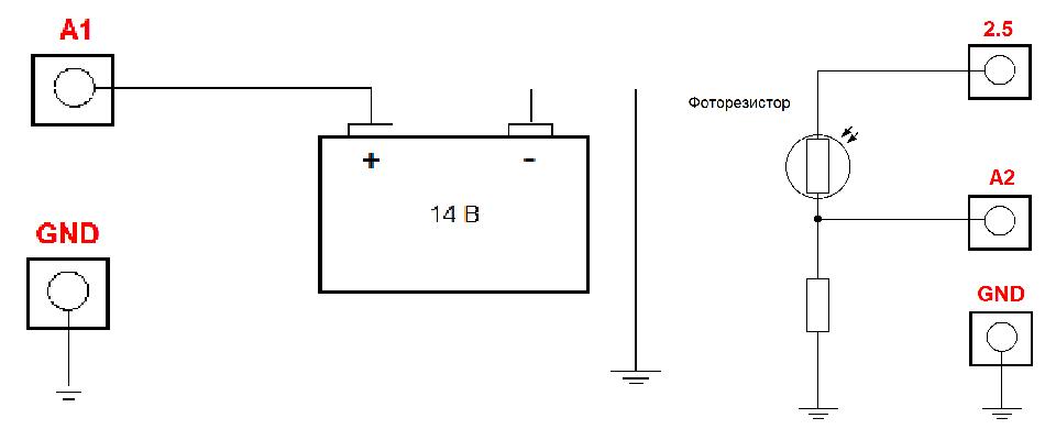 Рисунок 17. Laurent-5G АЦП для измерения напряжения аккумулятора