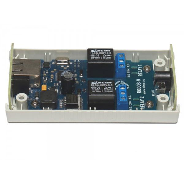 14. Ethernet реле на 2 релейных канала RODOS-9