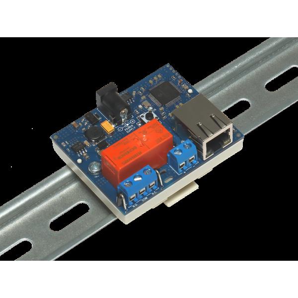 12. Интернет реле на DIN рейку на 1 релейный канал RODOS-8 Open Frame
