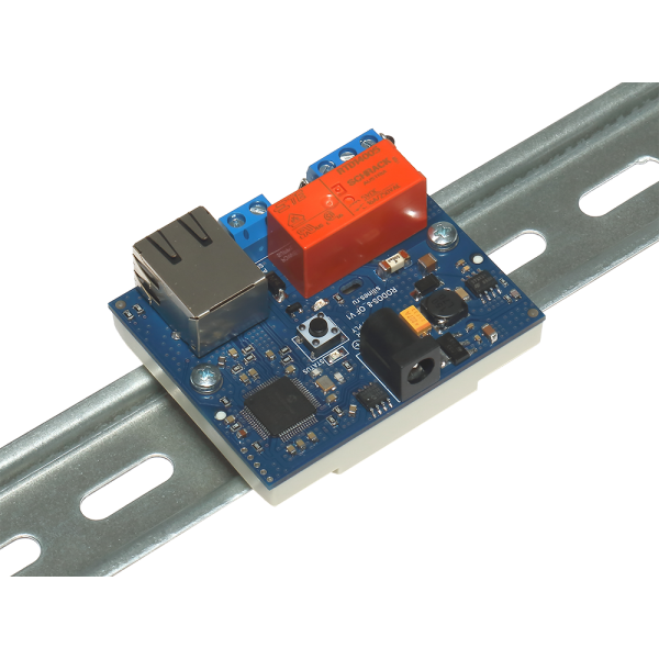 13. Интернет реле на DIN рейку на 1 релейный канал RODOS-8 Open Frame