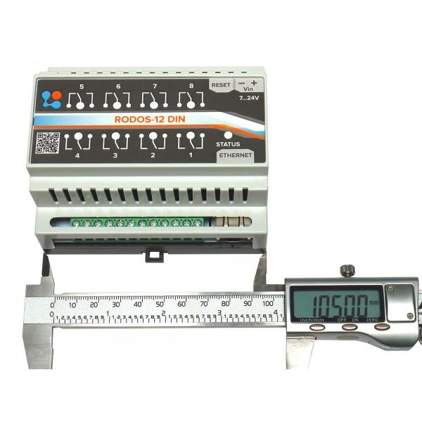 2. Ethernet реле на DIN рейку на 8 релейных каналов RODOS-12 DIN