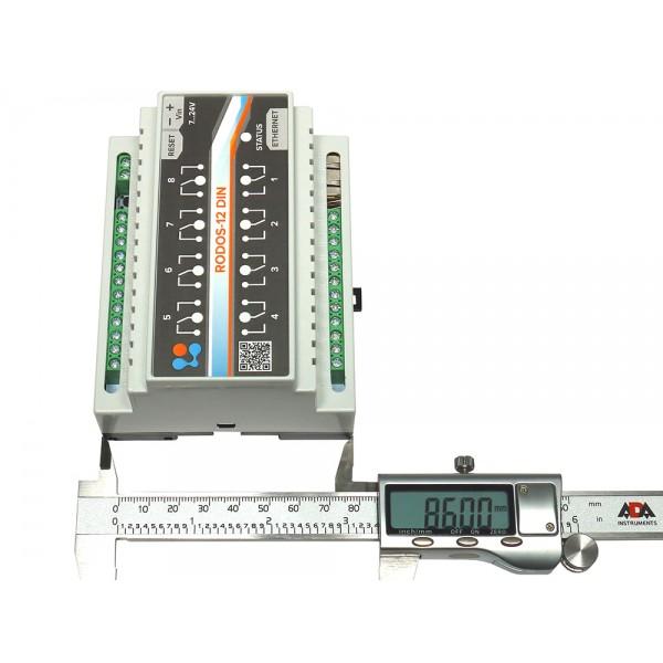 3. Ethernet реле на DIN рейку на 8 релейных каналов RODOS-12 DIN