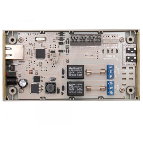 4. Интернет термостат/гигростат c 2-мя релейными каналами и логическими входами/выходами RODOS-16