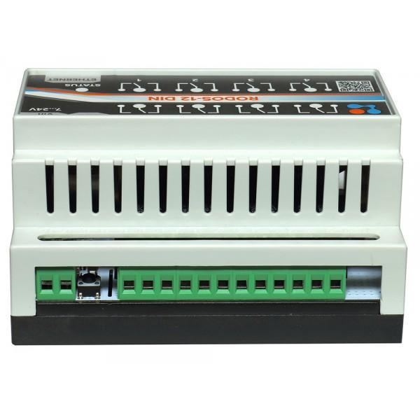 5. Ethernet реле на DIN рейку на 8 релейных каналов RODOS-12 DIN