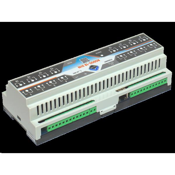 6. Ethernet реле на DIN рейку на 16 релейных канала RODOS-18 DIN