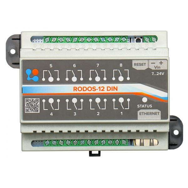 6. Ethernet реле на DIN рейку на 8 релейных каналов RODOS-12 DIN