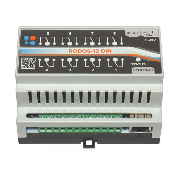 7. Ethernet реле на DIN рейку на 8 релейных каналов RODOS-12 DIN
