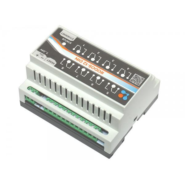 8. Ethernet реле на DIN рейку на 8 релейных каналов RODOS-12 DIN