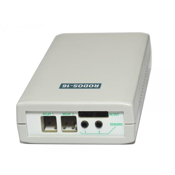 9. Интернет термостат/гигростат c 2-мя релейными каналами и логическими входами/выходами RODOS-16