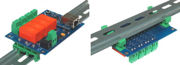Рис.2 - Вариант крепления RODOS-10 Open Frame на DIN рейкус помощьюкронштейна