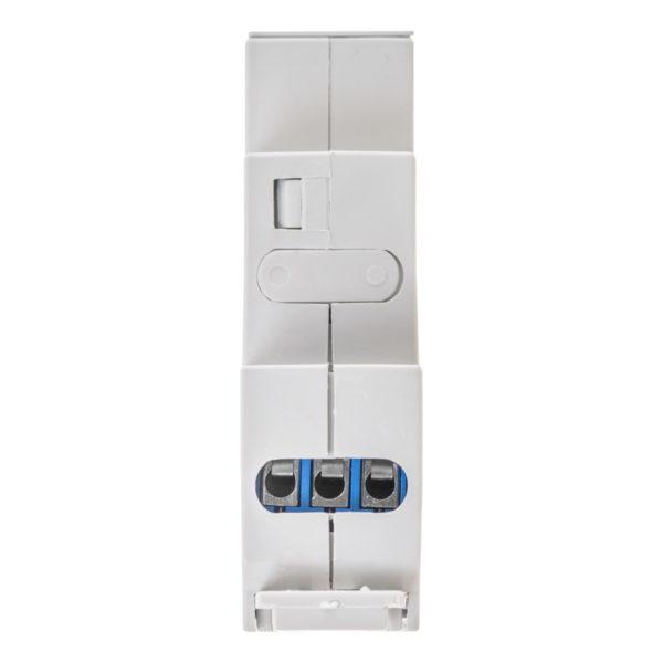 PLController R15250 силовое реле 15A/250B на DIN-рейку - вид со стороны контактов питания и управления