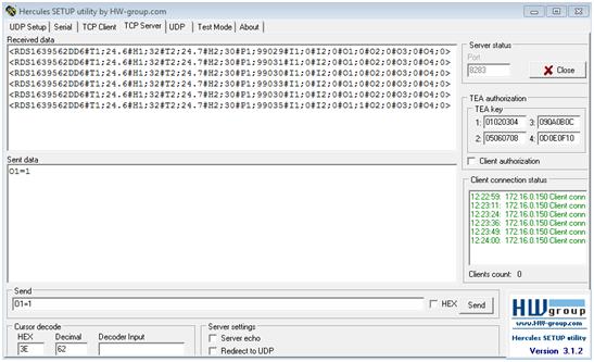 Рис.9 - Отправка данных от RODOS-16 на пользовательский сервер