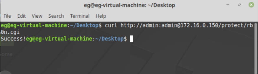 Рис.9 - Управление реле RODOS-8 Open Frame через прямые http запросы
