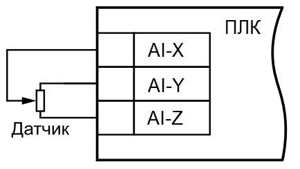 Подключение резистивного датчика к аналоговым входам ПЛК