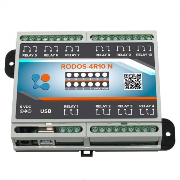 USB реле на 10 релейных каналов RODOS-4R10 N