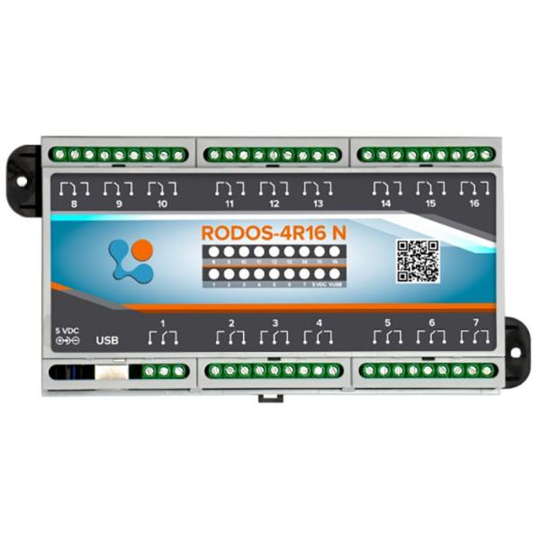 USB реле на 16 релейных каналов RODOS-4R16 N