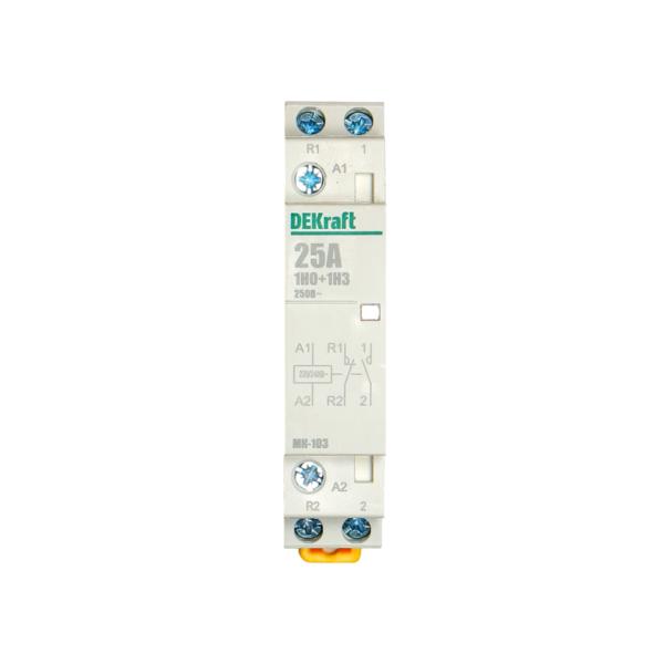 Контактор модульный 1НО+1НЗ 25А 230В МК-103 10