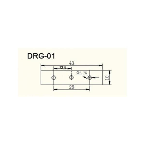 Кронштейн DRG-01 для монтажа печатной платы на DIN-рейку - габариты