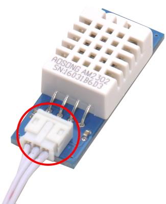 Рис.2 - Датчик температуры и влажности REX-2 имеет ключ на разъеме для подключения шлейфа