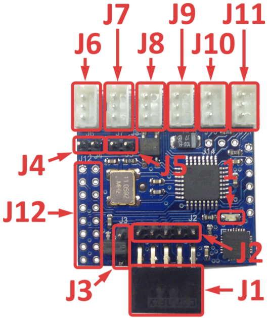 Рис.1 - Внешний вид и расположение разъемов сторожевого таймера USB WatchDog RODOS-11