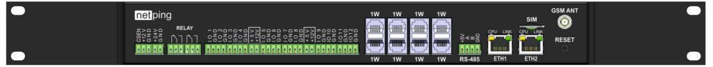 Рисунок 1. Устройство мониторинга микроклимата серверной комнаты NetPing server solution v5/GSM3G - передняя панель