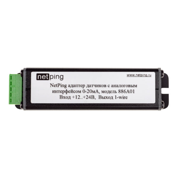 NetPing адаптер датчиков с аналоговым интерфейсом 0-20мА, модель 886A01