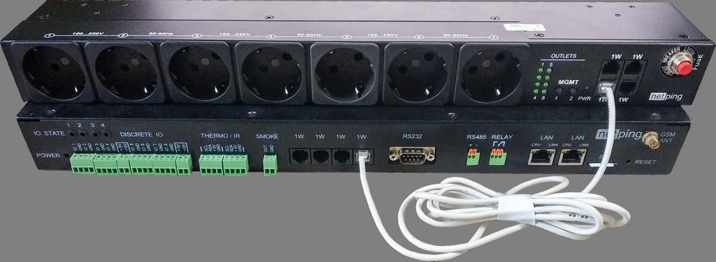 Рисунок 1. NetPing блок розеток 1-wire 888S0201