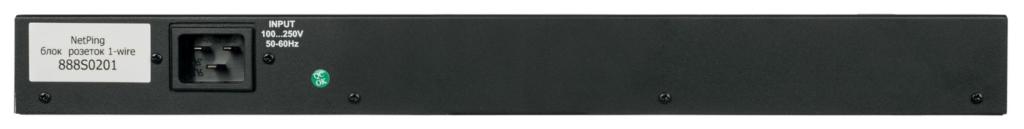 Рисунок 3. Задняя панель блока розеток NetPing 1-wire 888S0201