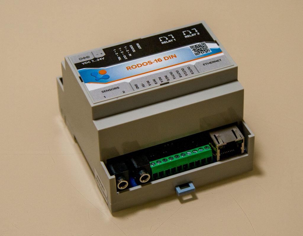 Рисунок 2. Внешний вид Ethernet термометра RODOS-16 DIN