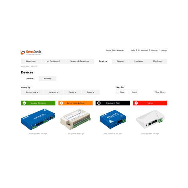Портал SensDesk можно использовать для быстрой настройки связи между всеми типами групповых устройств HW. Это наиболее эффективный способ установить обратную связь между датчиками HWg и исполнительными механизмами.