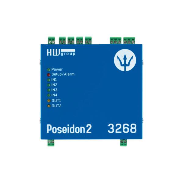 Poseidon2 3268 поддерживает до 8 датчиков, подключенных по 1-Wire UNI / 1-Wire, и до 4 датчиков, подключенных к цифровым входам