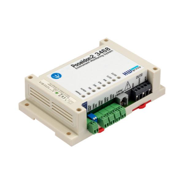 Poseidon2 3468 поддерживает до 8 датчиков, подключенных через 1-Wire UNI / 1-Wire, и до 4 датчиков, подключенных к цифровым входам.