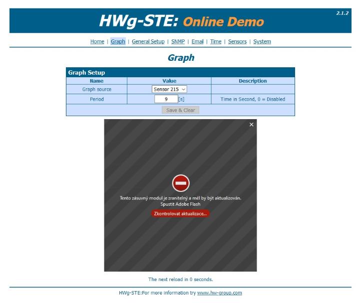 Рисунок 2. HWg-STE 10pack online demo