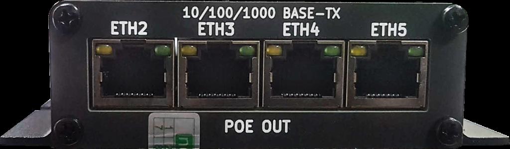 Рисунок 2. POE коммутатор NetPing NP-GB322 - панель со стороны Ethernet портов