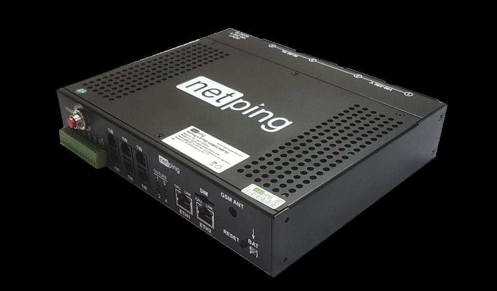 Рисунок 1. Внешний вид Rack PDU устройства NetPing 4/PWR-220 v6.4/ETH