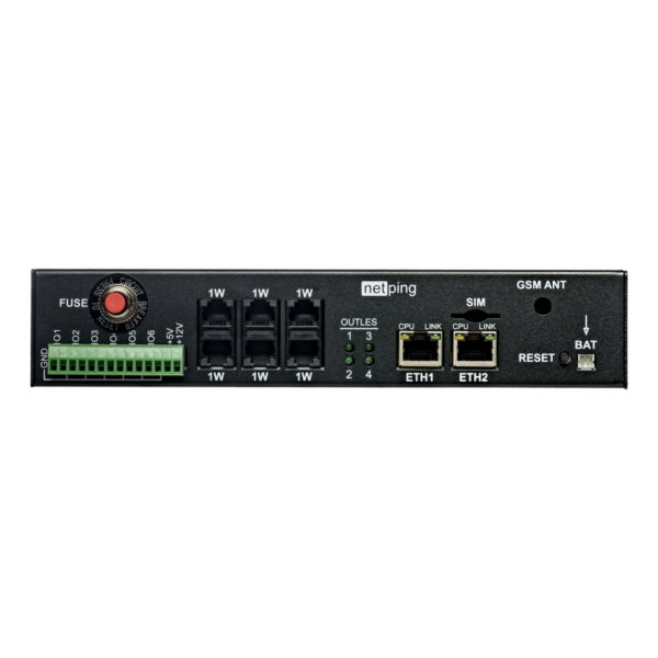 Устройство NetPing 4/PWR-220 v6.4/ETH - передняя панель