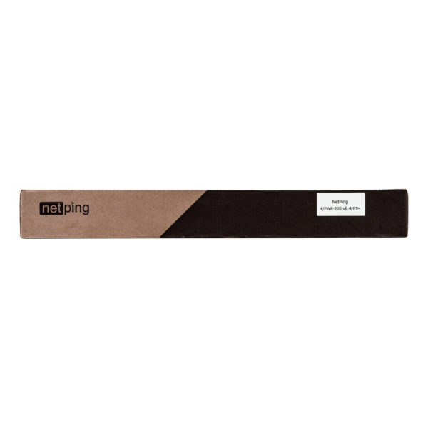 Устройство NetPing 4/PWR-220 v6.4/ETH - передняя часть коробки