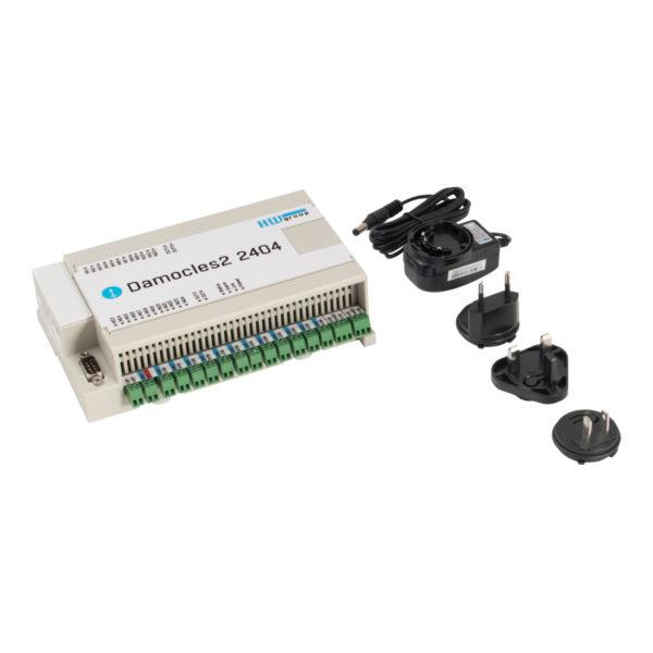 Набор Damocles2 2404: реле 24 × DI, 4 × DO, с адаптером питания
