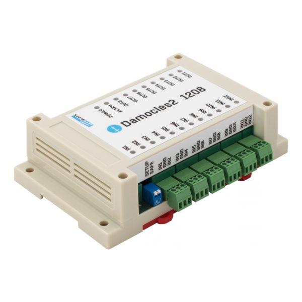Damocles2 1208 - это устройство ввода-вывода Ethernet с улучшенной IP-безопасностью и отличной ценой на соотношение выводов ввода-вывода.
