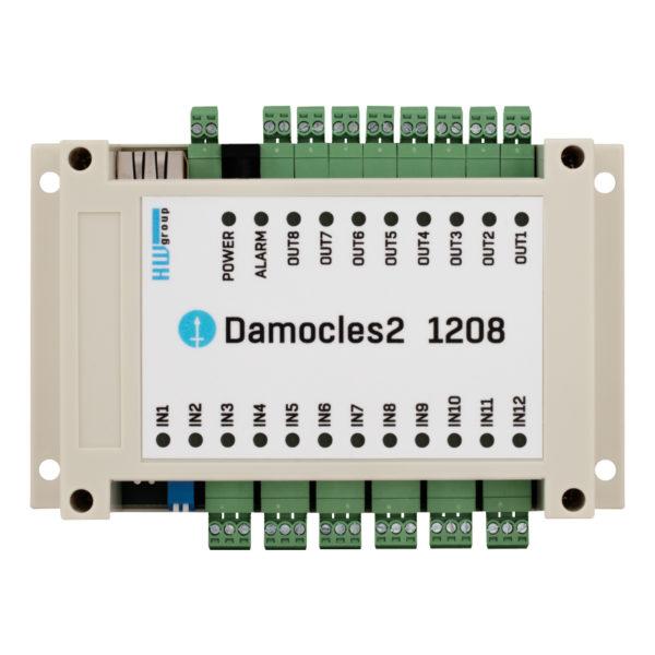 Damocles2 1208 имеет 12 цифровых входов с сухими контактами.