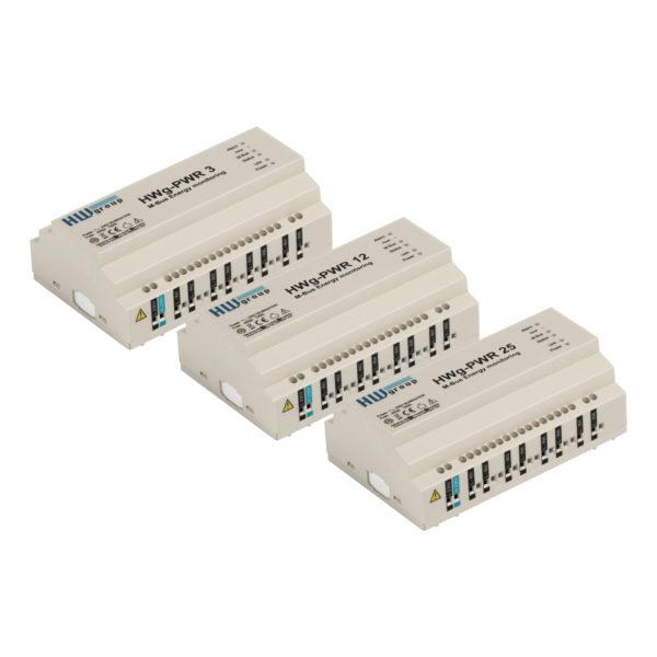 HWg-PWR3 / 12/25 - это интеллектуальный шлюз Ethernet, который собирает данные от до 3/12/25 внешних счетчиков на M-Bus.