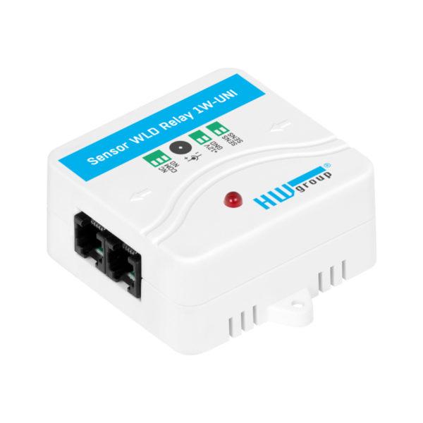 Датчик WLD Relay 1W-UNI: Универсальный датчик затопления обнаруживает затопление с помощью кабеля для обнаружения затопления.