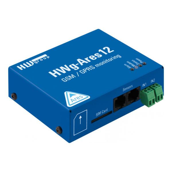 HWg-Ares12 - это промышленное устройство для удаленного мониторинга и сигнализации по GSM в местах без доступа к локальной сети. Включает резервный аккумулятор.