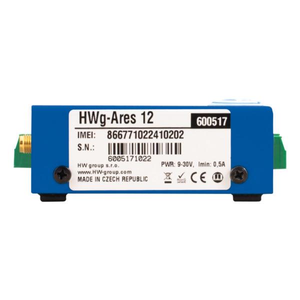 Ares 12 включает в себя внутреннюю батарею, обеспечивающую резервное питание до 24 часов.
