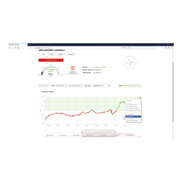 SensDesk позволяет создавать графики, объединяющие датчики и измеренные значения, чтобы одновременно отображать критические значения процесса.