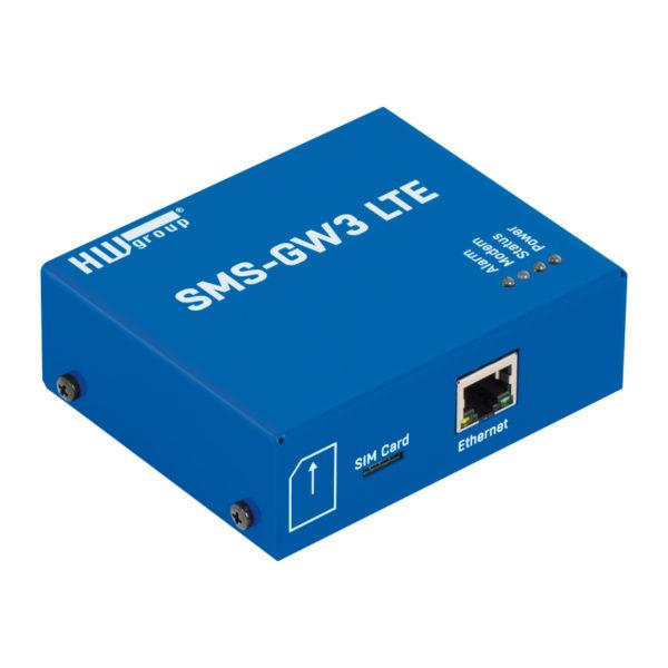 SMS-GW3-LTE - это шлюз LAN для отправки тревожных SMS с устройств группы HW.